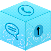 Secret Call & SMS - Blue theme
