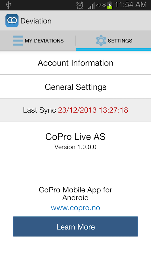 CoPro Deviation for SP2010- screenshot