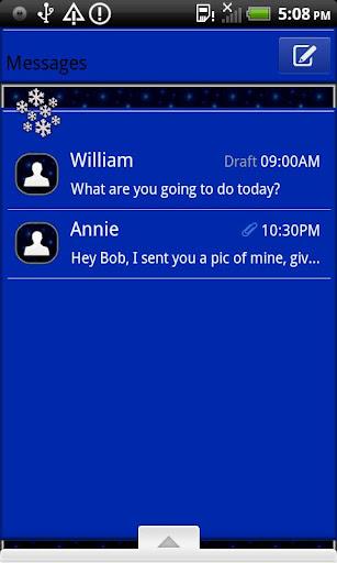 GO SMS THEME WhiteChristmas1