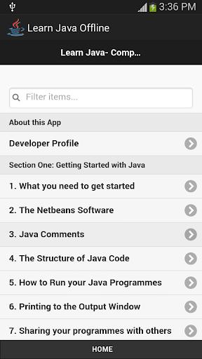 Learn Java Offline