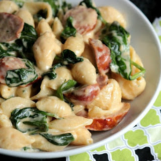Sausage and Spinach Alfredo.