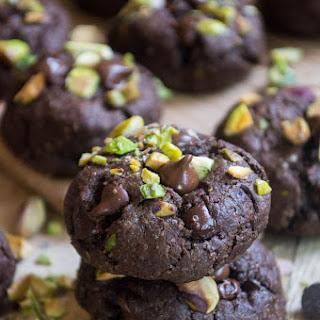 Double Chocolate Chunk Pistachio Cookies