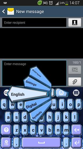 GO键盘蓝色钻石