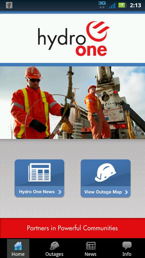 Hydro One Mobile- screenshot