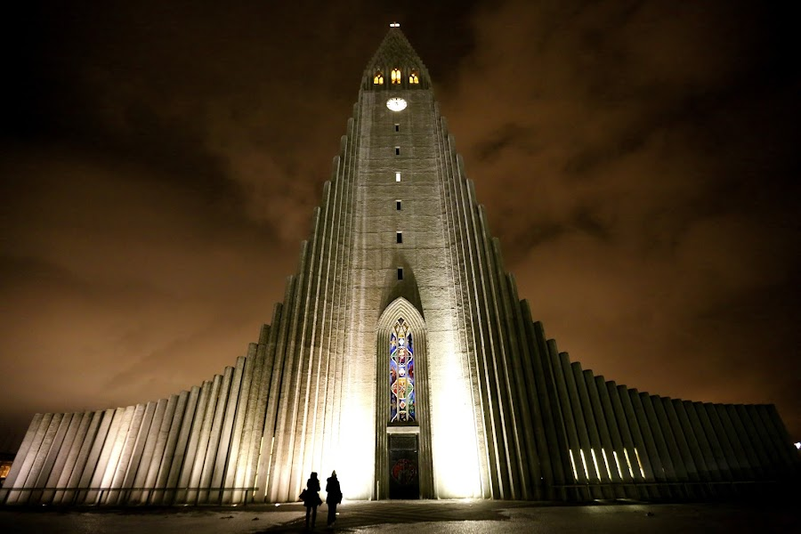 Take me to church by Noel Jay - Buildings & Architecture Places of Worship ( reykjavík, iceland, church, night,  )