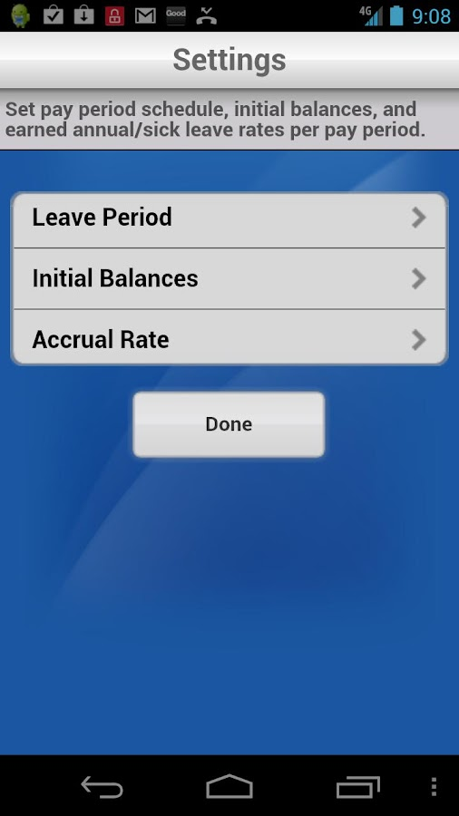 Leave Card - screenshot