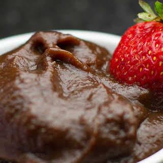 Vegan Chocolate Caramel Dipping Sauce.