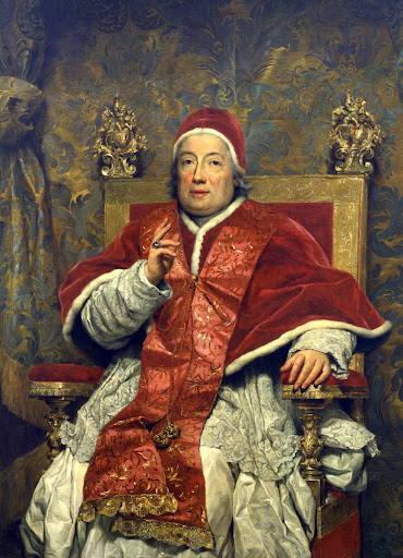 Portrait of pope Clement XIII