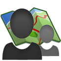Contact on Map icon