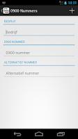 Screenshot of 0900 Nummers Gratis