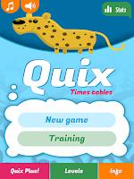 Screenshot of Quix Times Tables