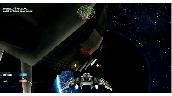 Dawn Earth Space Shooter Screenshot 1