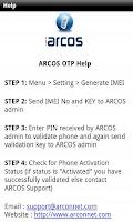Screenshot of ARCOS OTP