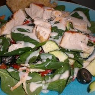 Spinach and Chicken Salad.