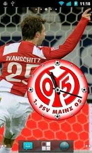 1. FSV Mainz 05 Clock Widget - screenshot thumbnail