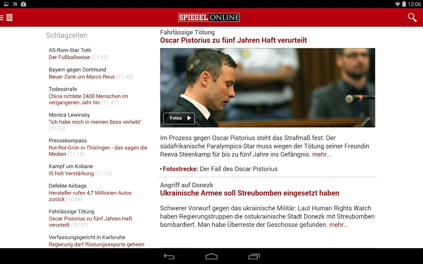 Spiegel online news android apps on google play for Google spiegel