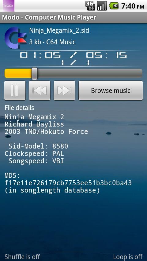 Modo - Computer Music Player- screenshot