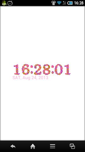 花のデジタル時計