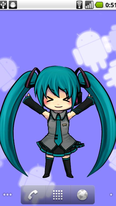 MikuLiveWallpaper - screenshot