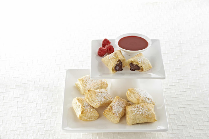 Bittersweet Pastries with Raspberry or Mango Sauce Recipe