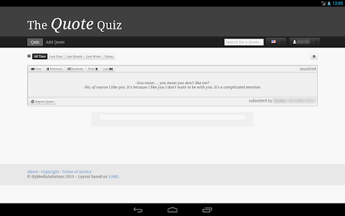 TheQuoteQuiz- screenshot thumbnail