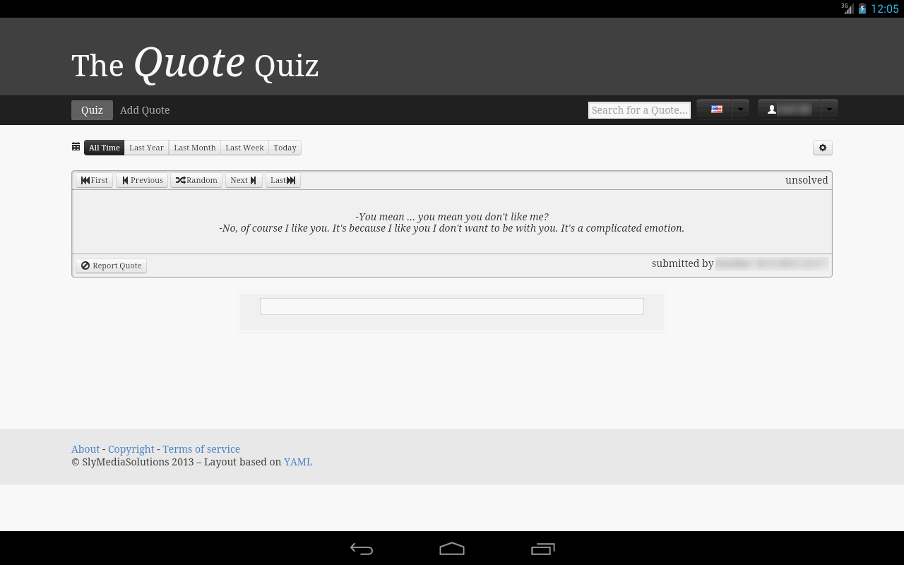 TheQuoteQuiz- screenshot