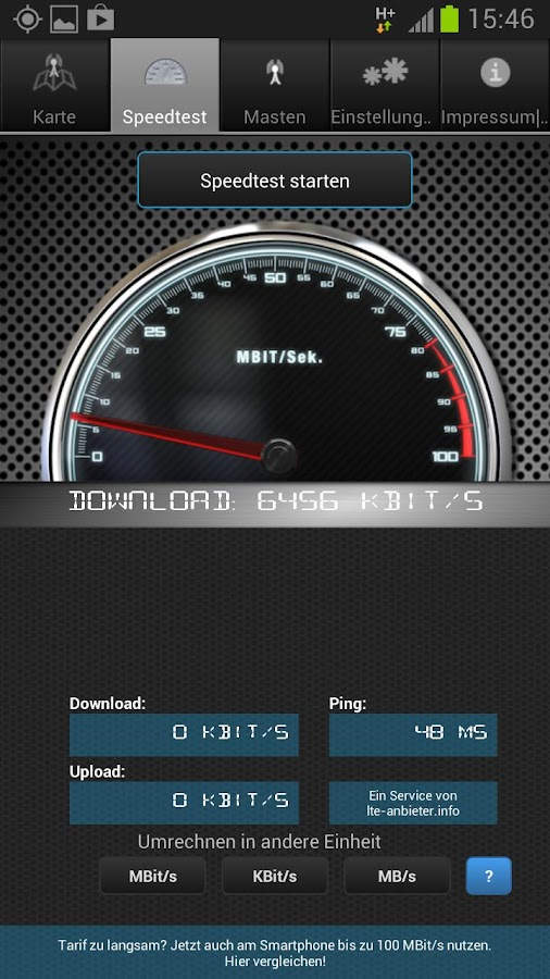 4G Speedmonitor | Speedtest - screenshot