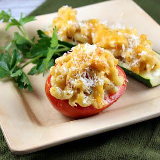 Macaroni and Cheese Stuffed Vegetable Boats.
