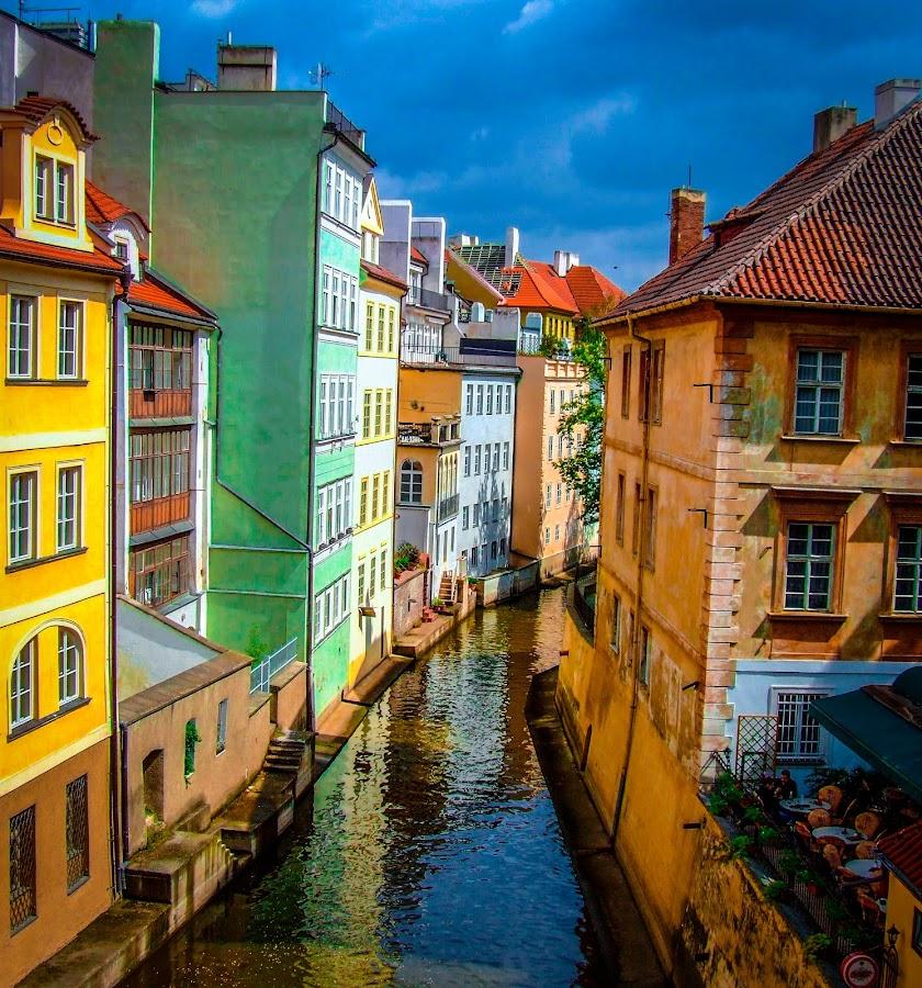 Prague Canal by Innocensia Matos - Buildings & Architecture Public & Historical ( water, czechrepublic, market, vacation, color, street, czech, travel, places, canal, prague,  )
