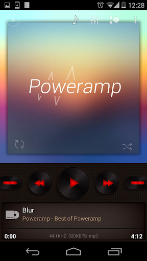 Poweramp skin Brown with Red