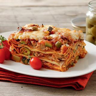 Thunfisch Lasagne mit Oliven