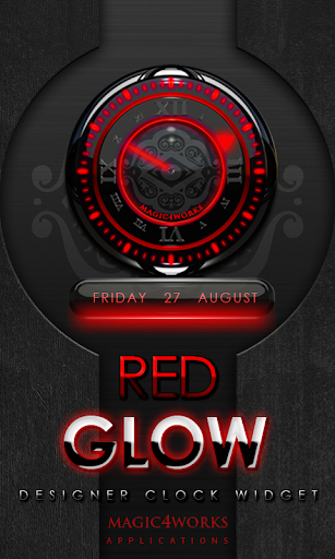 Red Glow Magic Clock Widget