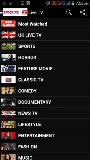 Dmoz Live TV Channels