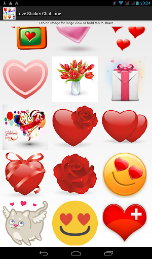 Love Stickers Chat Line