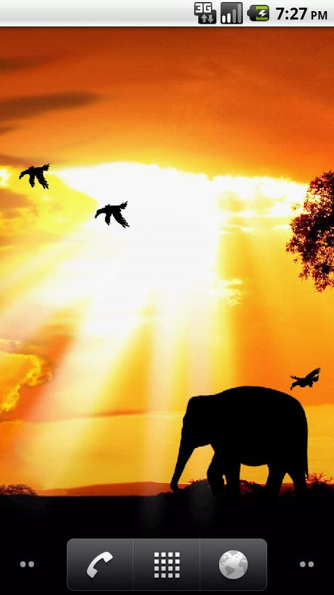 African Sunset Live Wallpaper - screenshot
