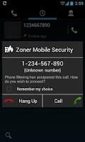 Screenshot of Zoner Mobile Security