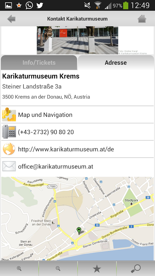 Kulturapp- screenshot