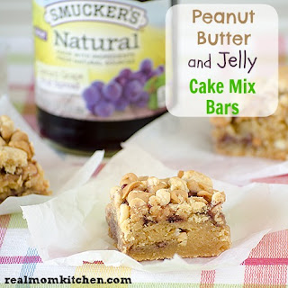 Peanut Butter and Jelly Cake Mix Bars Recipe