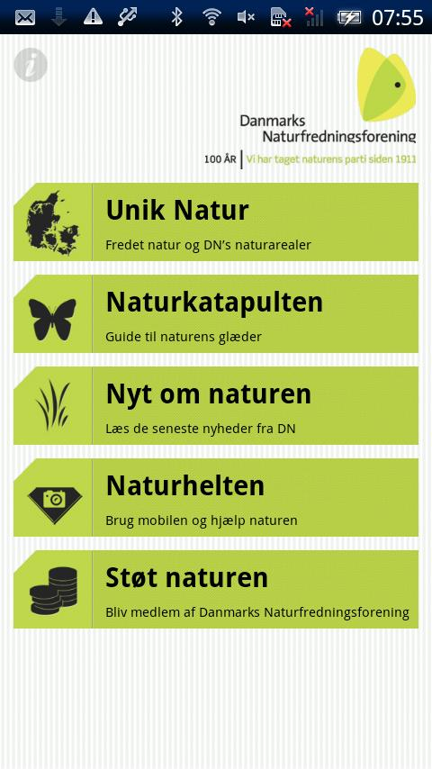 Naturguide - screenshot