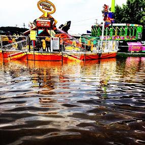 The fair this morning by Kisha Webb - City,  Street & Park  Amusement Parks ( flooded )