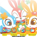 Skip Bunny Flowers_SQTheme_ADW logo