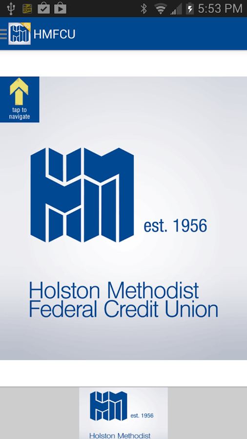Holston Methodist FCU App- screenshot