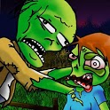 Old man VS Zombie survival icon