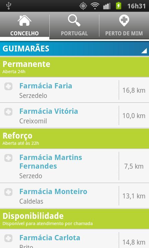 Farmácias de Serviço .net- screenshot