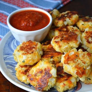 Baked Cauliflower Nuggets.