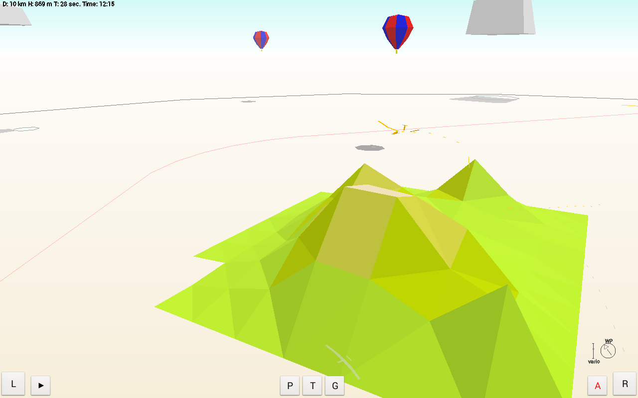 Sailglider soaring simulator- screenshot