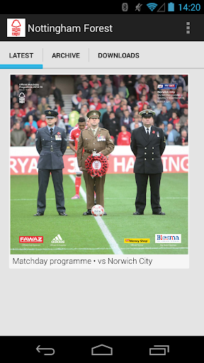 Nottingham Forest programmes