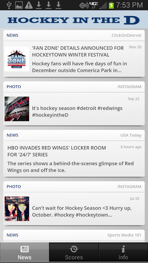 Hockey in the D - WDIV Detroit - screenshot