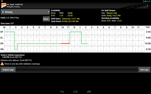 BigRoad Trucking Logbook App Screenshot