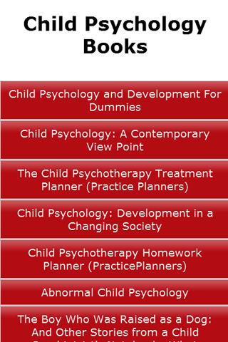 Child Psychology Books
